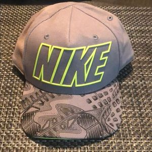 Nike True Gray and Neon Green Infant Hat